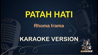 PATAH HATI Karaoke Rhoma Irama ( Karaoke Dangdut Koplo )