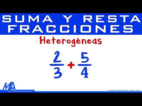 Suma y resta de fracciones heterogéneas | denominadores DIFERENTES