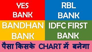 Yes bank RBL bank Bandhan bank IDFC First bank technical analysis | stock pick 2019 to earn profit