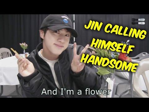 BTS Jin Calling Himself Handsome Moments