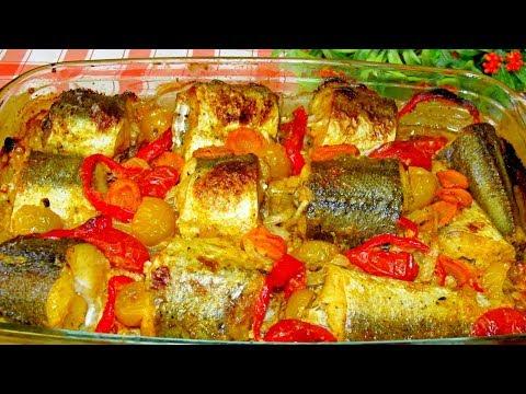 ВКУСНЕЕ РЫБЫ НЕТ, с овощами в духовке! Самая СОЧНАЯ! Ужин прекрасный!
