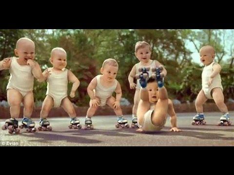 Baby nh?y nh?c sàn, Baby nh?y Gangnam style, Roller babies international version -Evian