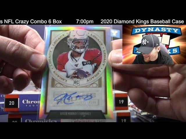 2019 Chronicles Football Card 6 Box Half Case Break #7   Sports Cards
