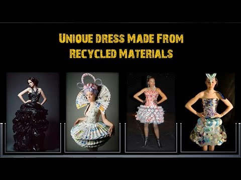 Unique Dress Design made From Recycled Materials - Amazing Craft Ideas – DIY Crafts Dress