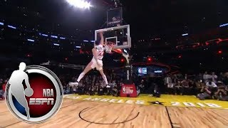 Larry Nance Jr. recreates dad's epic 'rock-the-cradle' dunk at 2018 All-Star contest   NBA on ESPN