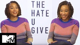 Amandla Stenberg Reveals Deleted KJ Apa Makeout Scene | The Hate U Give | MTV Movies