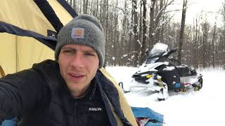 WINTER CAMPING in Norтhern Michigan!