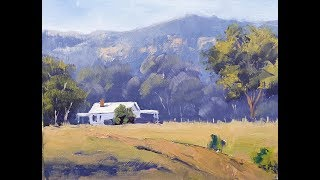 "Learn To Paint Tv E81 ""farm In The Valley"" Landscape Painting For Beginners"