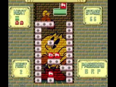 Pac-Attack (SNES) - Puzzle Mode