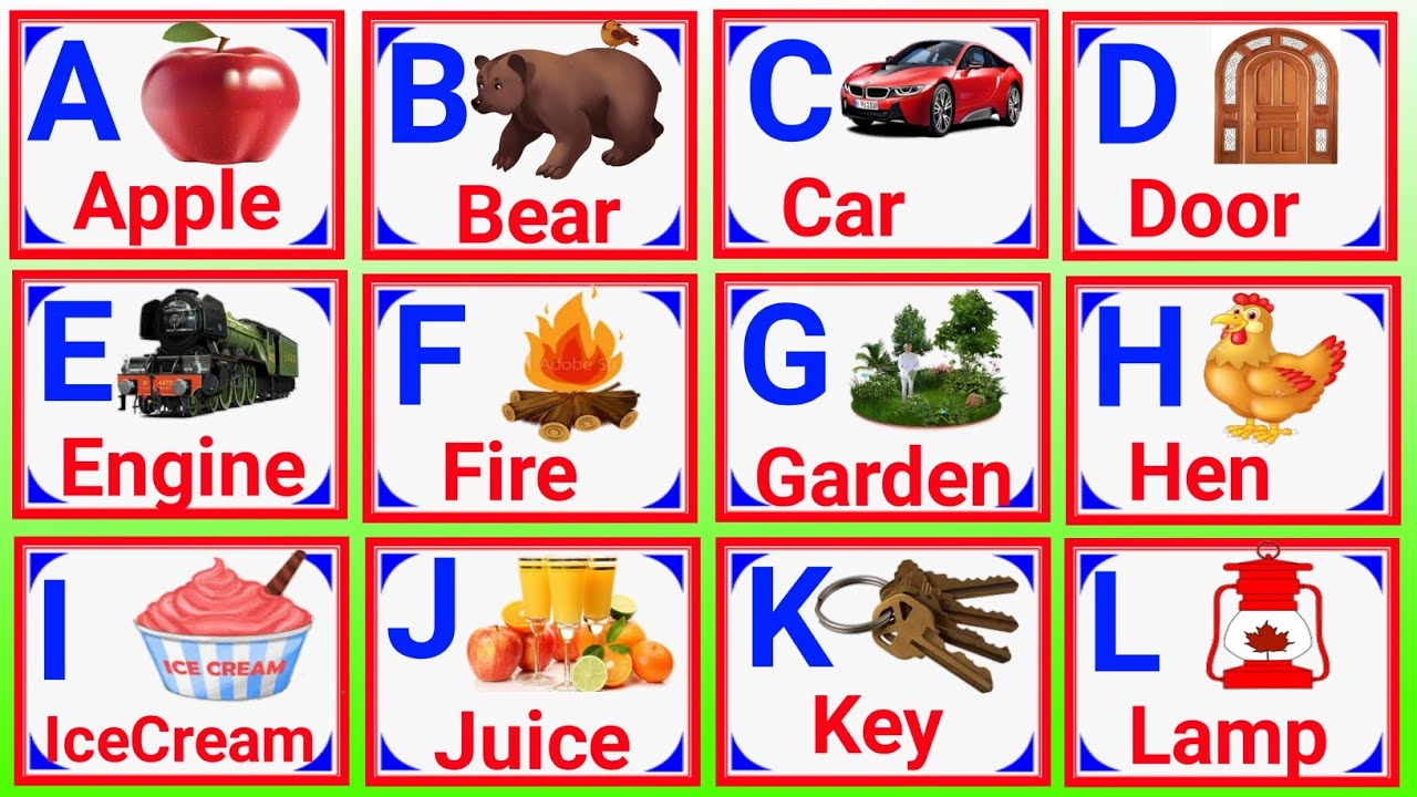 A for apple,alphabet,phonics sounds with image,and alphabet song with image,abcdefgh,a for apple pic