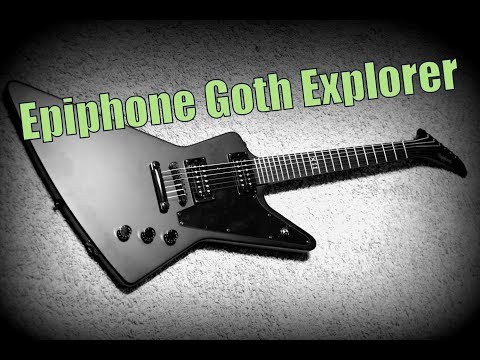 My new Guitar | Epiphone '58 Explorer Goth