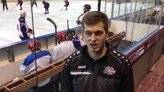 Форвард ХК «Рубин» Егор Попов - автор дубля в матче с «Металлургом» (4:2)