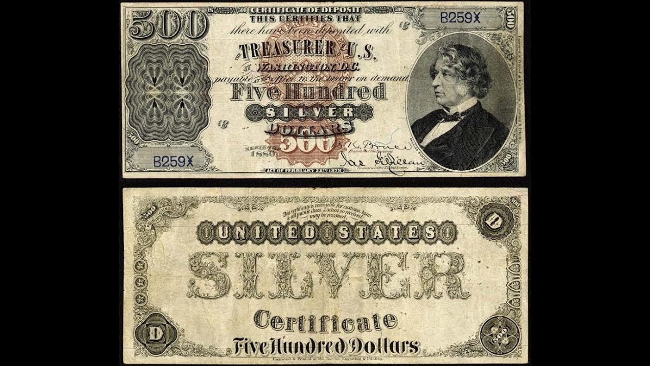 United States Paper Money Currency Silver Certificates Youtube