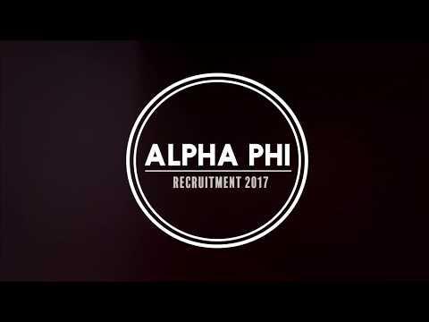 UW Alpha Phi Recruitment 2017 Preview