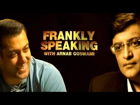 Frankly Speaking With Salman Khan   Full Interview With Arnab Goswami