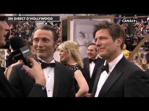 Mads Mikkelsen & Thomas Vinterberg - Oscar 2014 Canal+ Interview