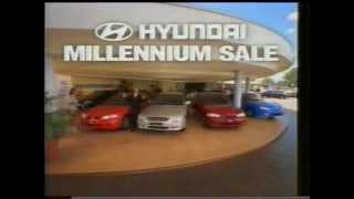 "Hyundai ""Millenium Sale"" TV ad with Tony Barber"