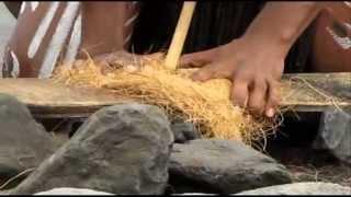 How to make a fire Using Sticks, survivor style- PAMAGIRI Aboriginal dance show- Travel to Australia