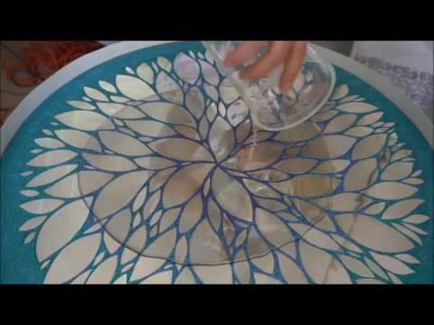 Diy Upcycle Cd S Amp Glitter Table Top Resin Pour Part 2