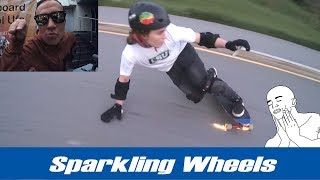 Делаем искрящиеся колеса для лонгборда (handmade longboard sparkling wheels)