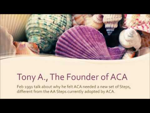 Tony A Talk   New Steps for ACA