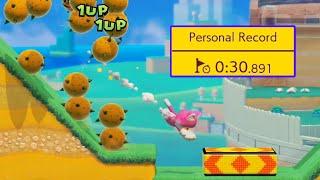 I'm in the TOP 0.00068% for the New Ninji Speedruns (Cat Mario Dash) — Super Mario Maker 2