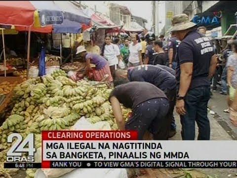 24 Oras: Mga ilegal na nagtitinda sa bangketa, pinaalis ng MMDA