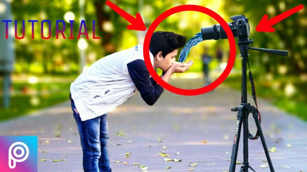 lover boy drinking water from DSLR || PicsArt Manipulation || Background  blur
