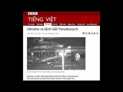 24.02.2014 - BBC Vietnamese - Ukraine ra lệnh bắt Yanukovych