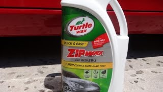 Turtle Wax Zip Wax Car Wash and Wax Review and Test Results on my 2009 Nissan 370z