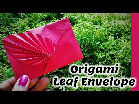 How to make A4 Paper Easy Leaf Gift Envelope ( Origami Envelope )