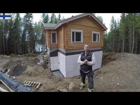 Надёжная гидроизоляция  цокольного этажа . Строительство дома в Финляндии.