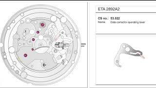 ETA 2892 Movement Assembly Ani…
