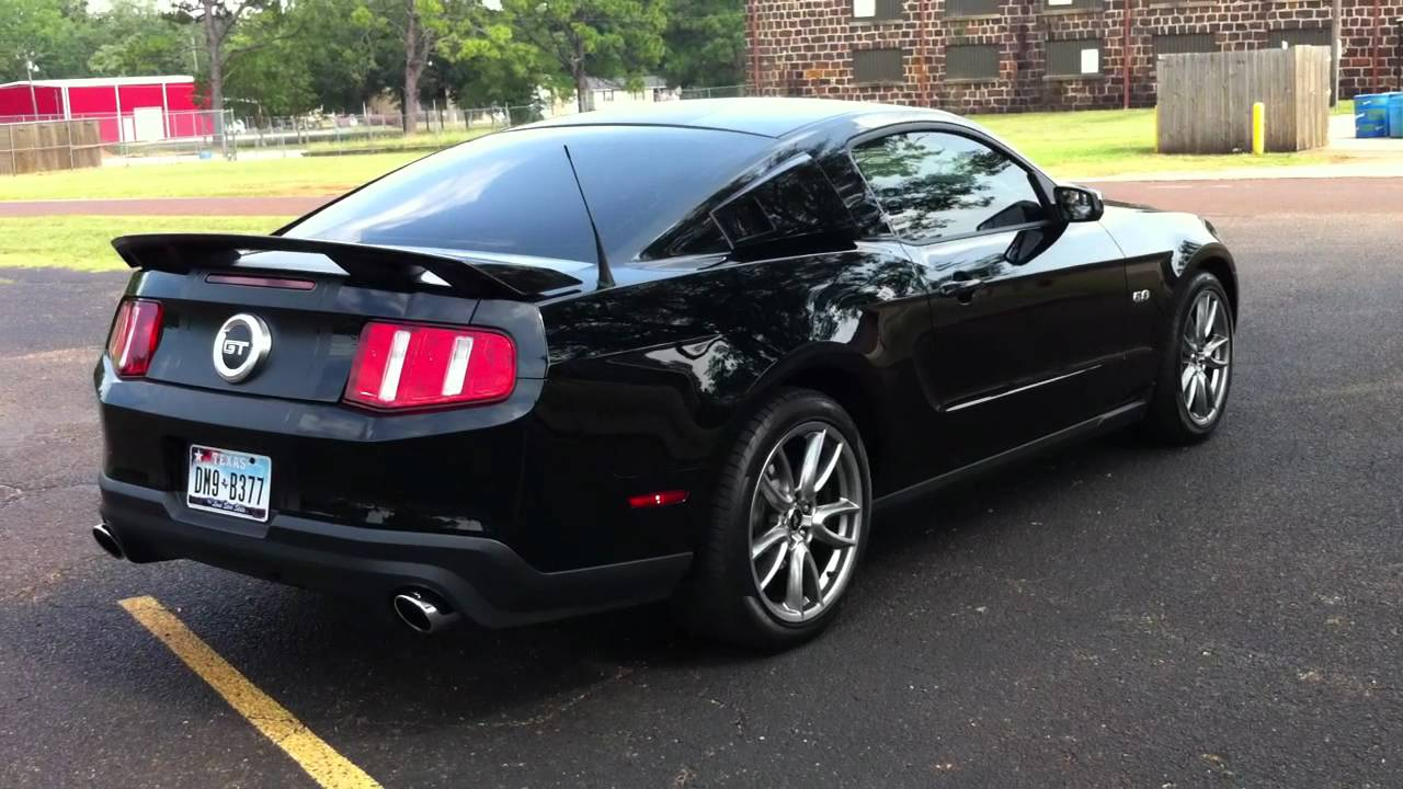 2012 ford mustang gt premium 5 0 blk blk racing stripes with roush exhaust still shot
