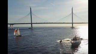 Прогулки по Неве на Катере Ночью Разводные Мосты в Спб