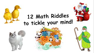 12 Math Riddles to tickle your Mind!