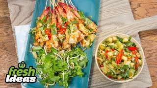 Bbq Lemongrass Chilli Prawn Recipe With Chargrilled Pineapple Salsa