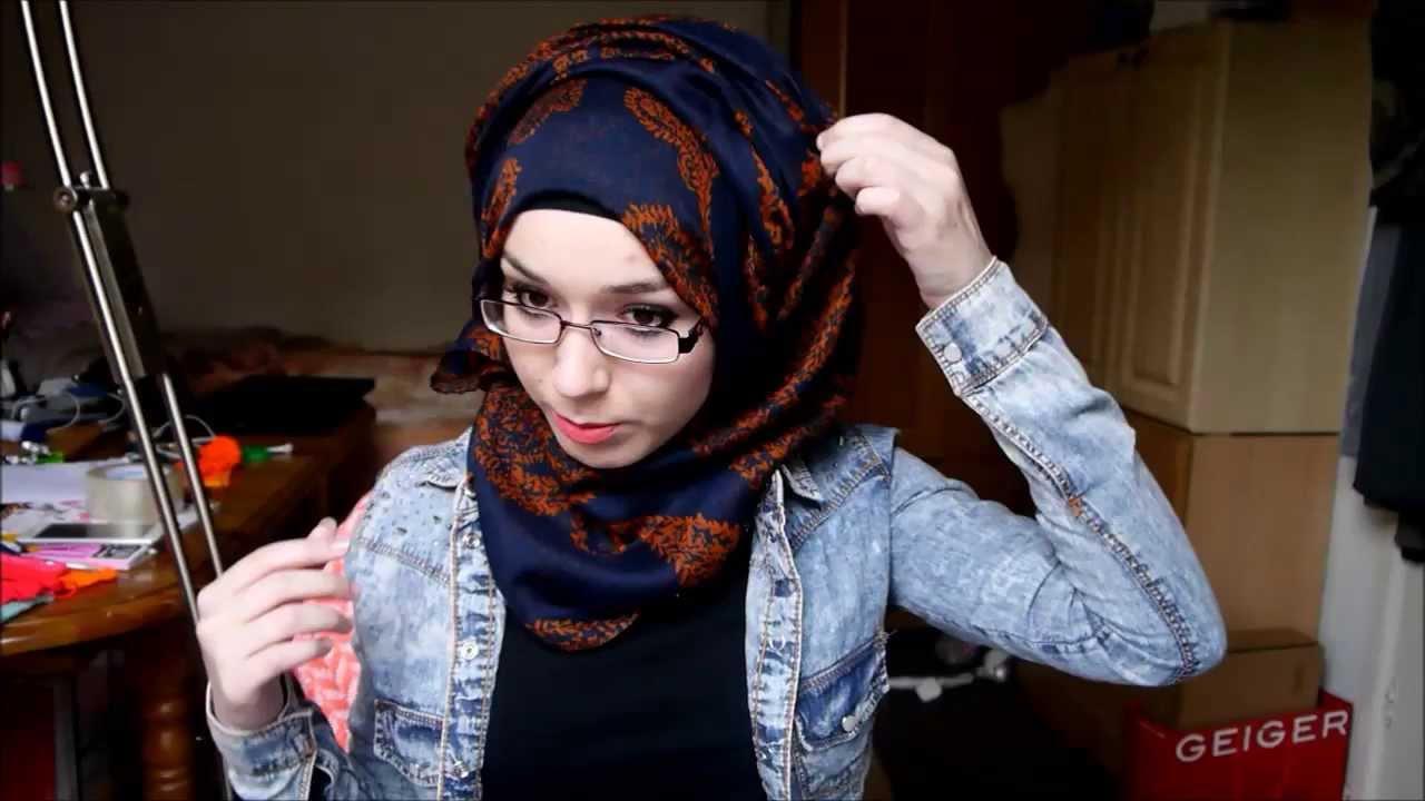 Hijab Tutorial L Side Twist Youtube