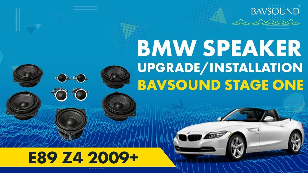 bavsound stage one bmw e89 z4 2009 speaker upgrade installation video youtube. Black Bedroom Furniture Sets. Home Design Ideas