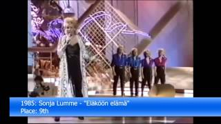 Repeat youtube video Finland in the Eurovision Song Contest 1961-2013