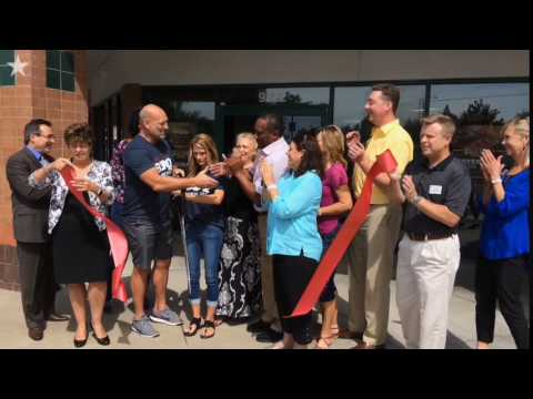 Ribbon cutting ceremony at Billy Sims  BBQ