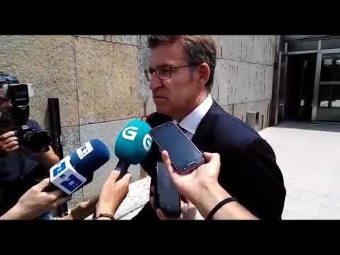 Núñez Feijóo se dirige a la prensa tras la muerte de Albor