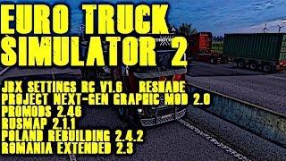 Euro Truck Simulator 2  -  Prší, prší, jen se leje kampak to dnes pojedeme? + COMBO MEGA MAPS