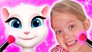 Любимые игры Леры и веселый урок макияжа