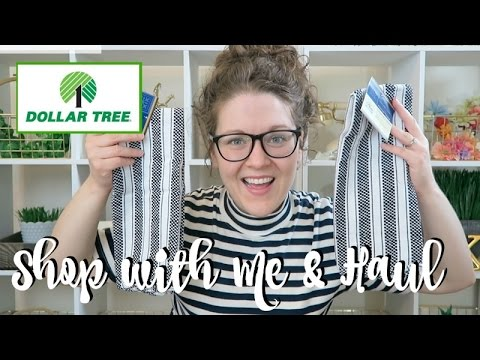 DOLLAR TREE   SHOP WITH ME & HUGE HAUL