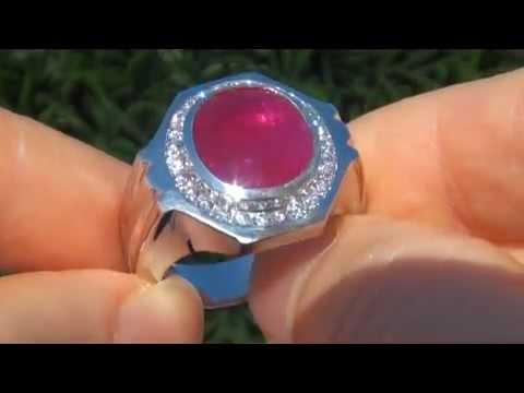 Gia 7 40 Carat Men S Unheated Burma Ruby Amp Diamond Ring