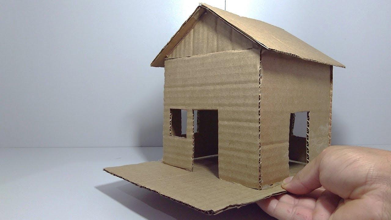 Como fazer uma casa com papel o youtube - Casas miniaturas para construir ...