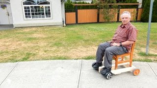 How to make a Hoverboard chair(Build this hoverboard chair out of wood, add a kitchen chair and ride around the neighbourhood. I made my chair 2 days after Izzy's chair ..., 2016-05-26T05:34:43.000Z)