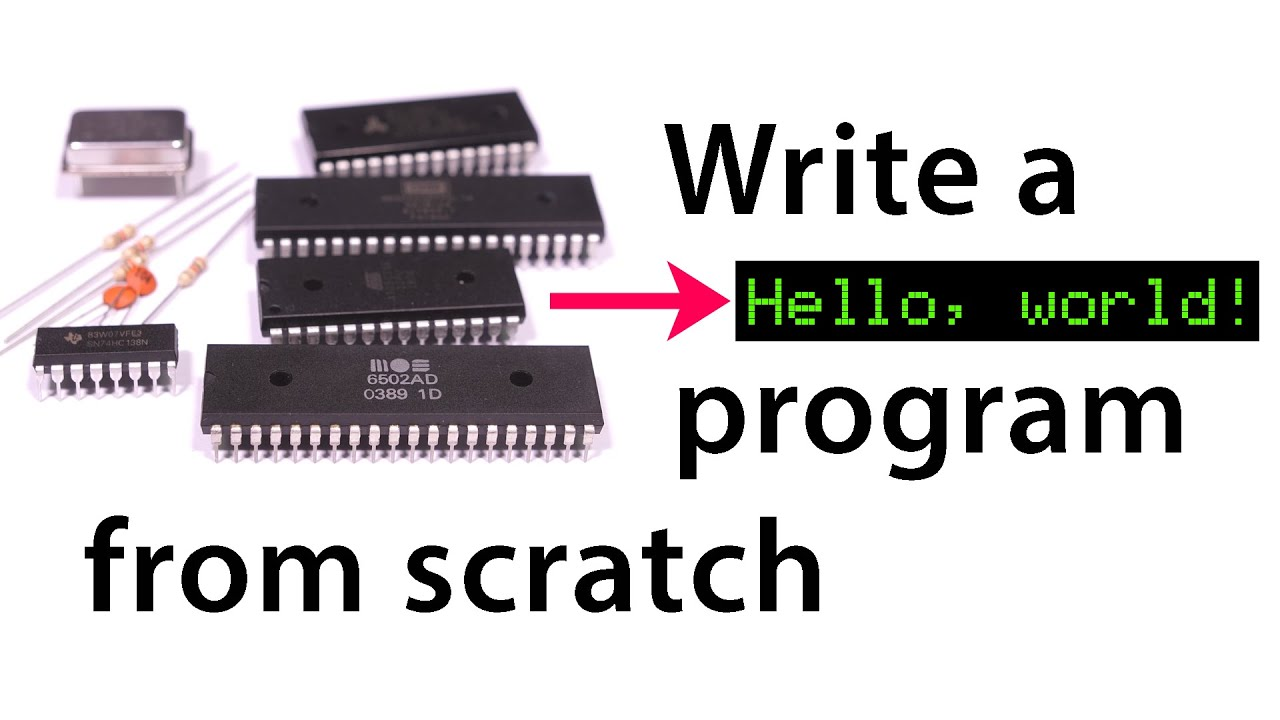 """Hello, world"" from scratch on a 6502"