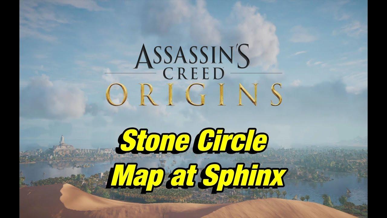assassins creed origins map of stone circles